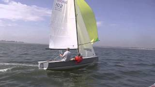 BM550 -First sail of production FRP boat (with music track))