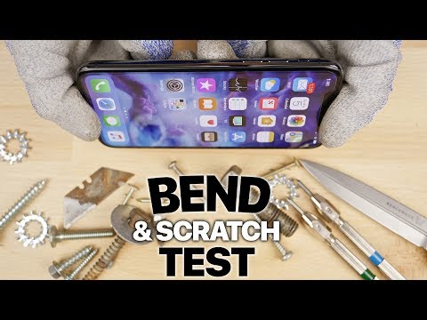 iPhone X BEND & Scratch Test!