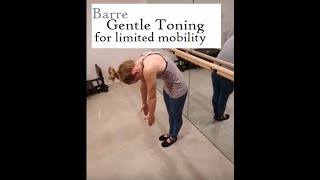 Ballet Barre Basic Workout- gentle toning for those with limited mobility- Bennie Barre Fitness