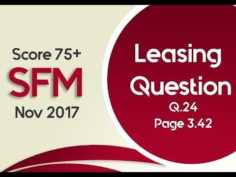 Leasing Video CA FINAL STP QUESTION