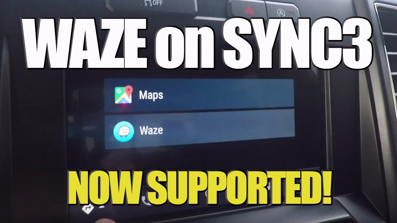 waze now on sync 3 using android auto ford f150 youtube. Black Bedroom Furniture Sets. Home Design Ideas
