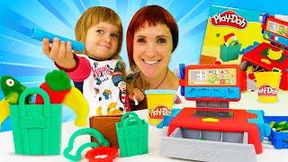 Плей До касса для Бьянки. Маша Капуки Кануки и набор Play Doh. Новое развивающее видео для детей