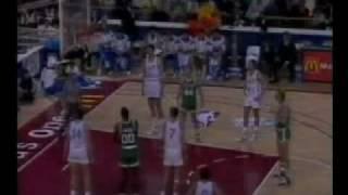 L. Bird & K. McHale vs Z. Paspalj & V. Divac (Celtics vs Yugoslavia, 1988 McDonald