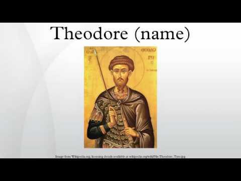 Theodore (name) - YouTube