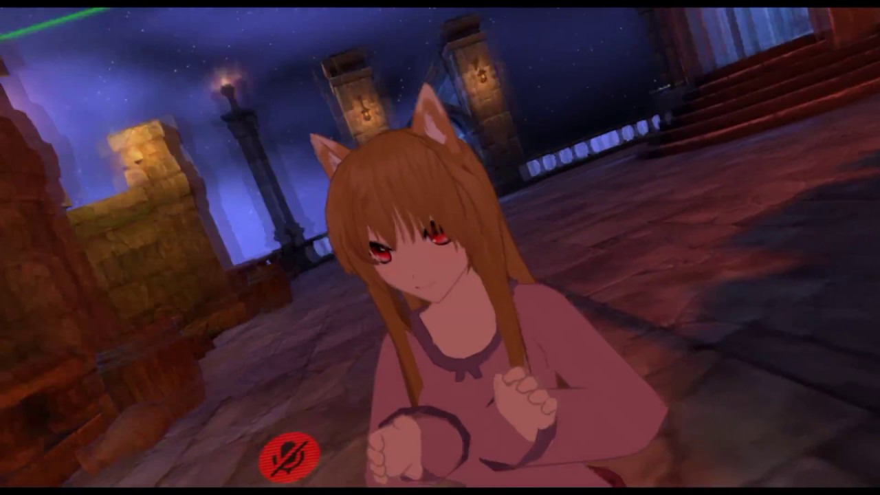 VRChat Moments - Twin wolf anime girls play boop game in VR: Virtual Reality