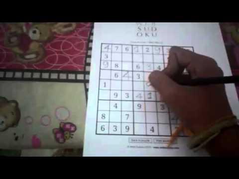 แก้ sudoku ระดับง่าย ด้วยสูตรขั้นพื้นฐาน