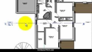 COUPE d'une maison pour permis de construire - Définition, exemple | Architecte-paca.com