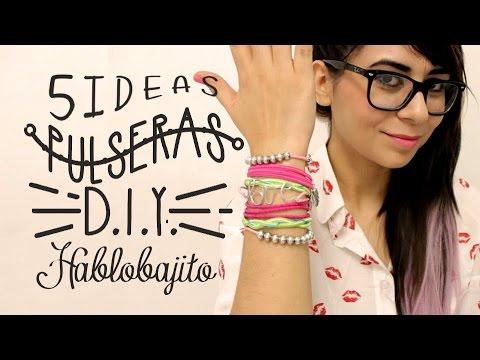 ccbdecbb8cca 5 Ideas para hacer Pulseras   Accesorios de Moda - Hablobajito - YouTube