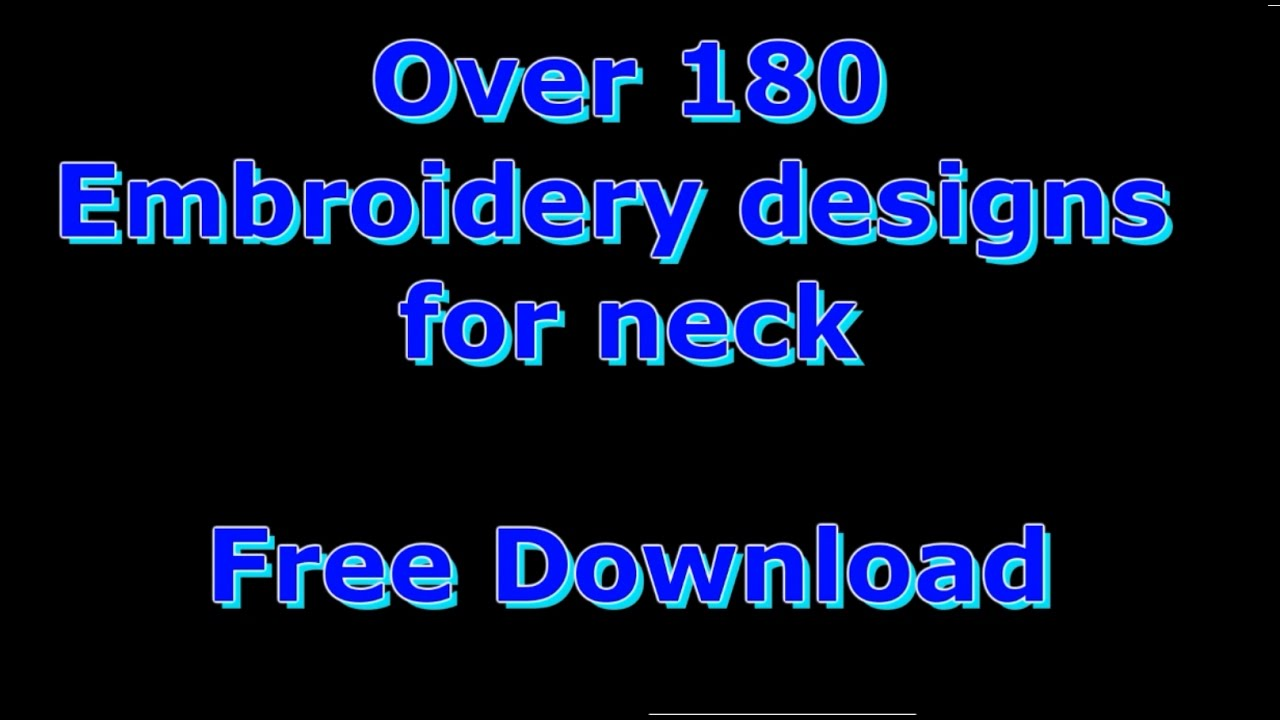 Embroidery Design Free Pes