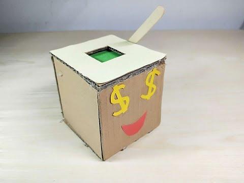 How to Make a Pressure bar Coin bank Box !