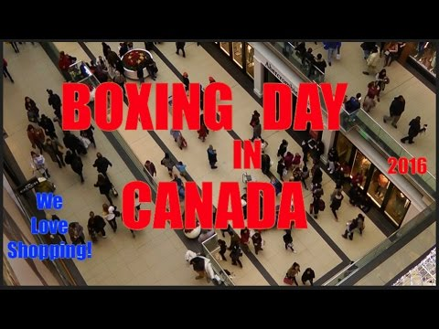Shopping On Boxing Day In Canada (Dec 26)