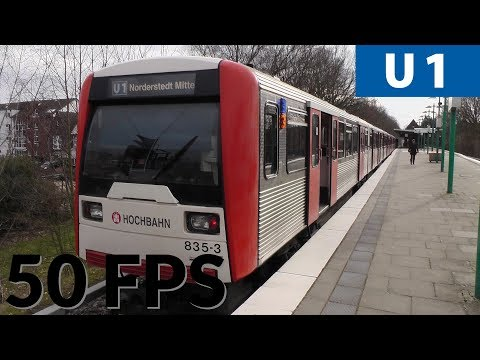 Hamburg U-bahn Metro Ride on U1 with DT3: Großhansdorf-Volksdorf-Farmsen