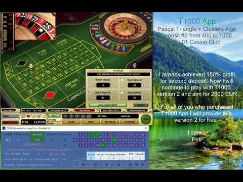 T1000 App  Version 2 | Casino Club Deposit #2 Ep.01  | Online Roulette Systems, Strategies