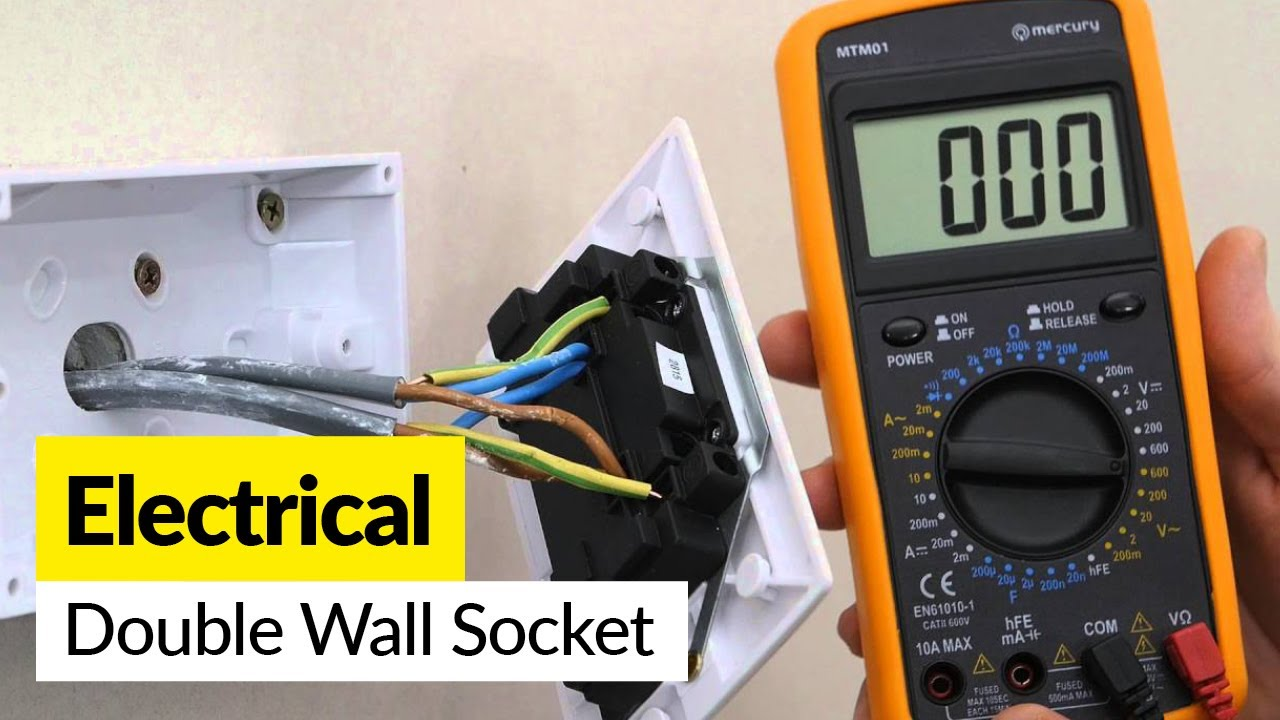 how to replace a double wall socket youtube double plug socket wiring diagram uk how to [ 1280 x 720 Pixel ]