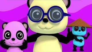 Колено плеча | Узнать части тела | Детская рифма | Baby Bao Panda | Kids Rhyme | Head Shoulder Knees