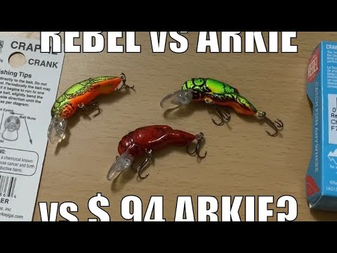 Rebel Vs Arkie Vs $.94 Arkie Crawfish Lure? - Fishing Tackle Tips