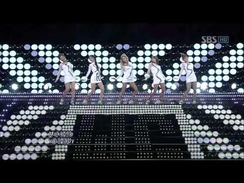 Wonder Girls - Be My Baby / Girls Night Out (GNO)@SBS Inkigayo 인기가요 20111211