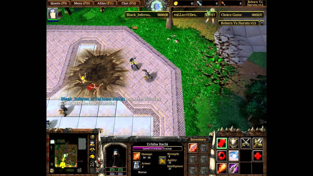 Похождения вWarcraft3:Frozen Throne(7)-Reborn vs Naruto1.5