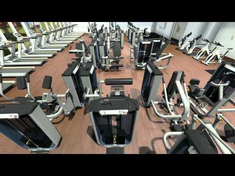 3D walkthrough gym design video MATRIX fitness