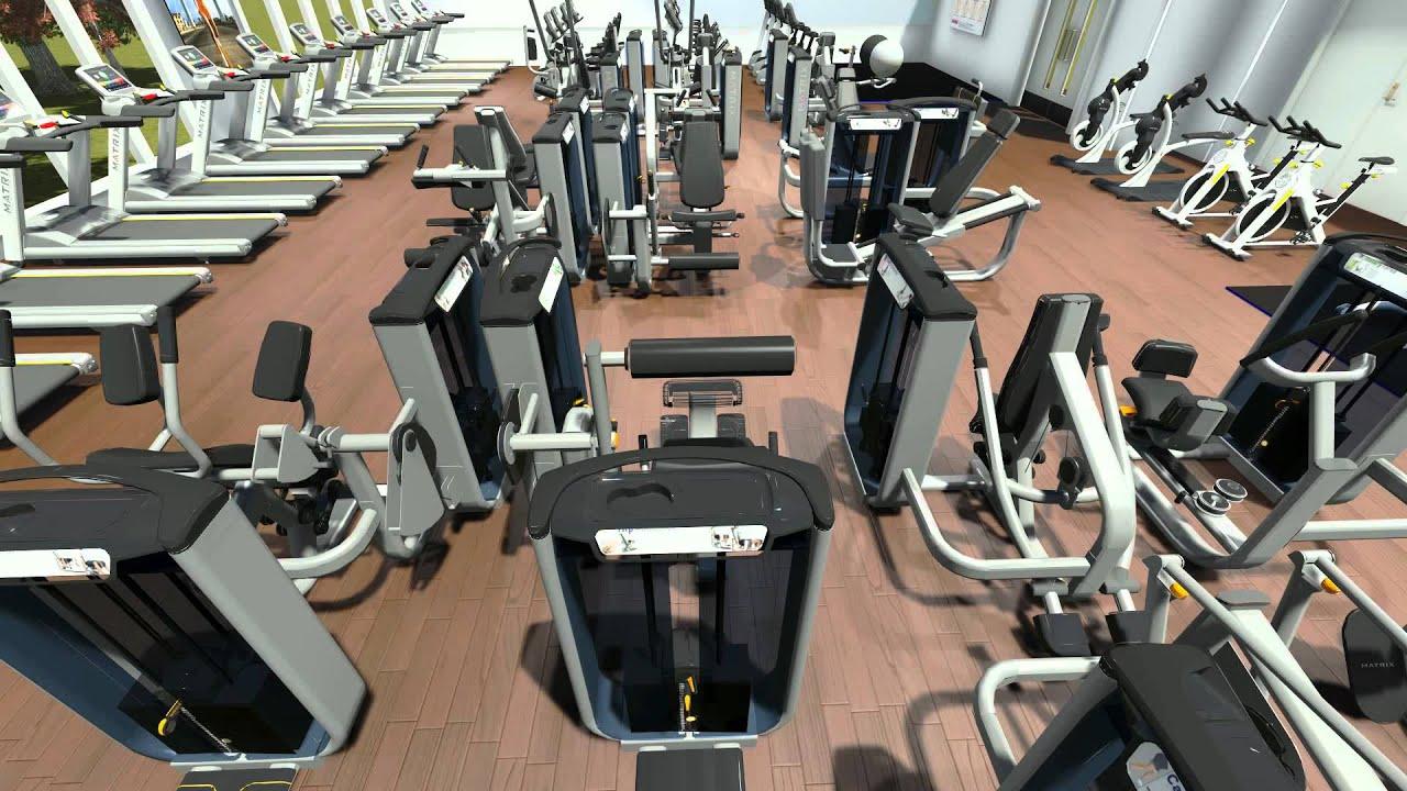 3d walkthrough gym design video matrix fitness youtube