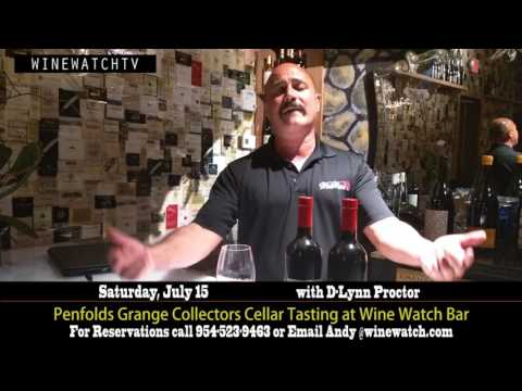 Penfolds Grange Collectors Cellar Tasting at Wine Watch Bar - click image for video
