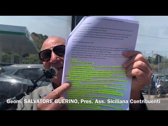 """""""Dite la Vostra"""": il Geom. S. Guerino denuncia  impianto a metano  di fronte Osp. Garibaldi Nesima"""