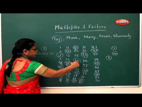 Multiples and factors | Samacheer 5th std Maths