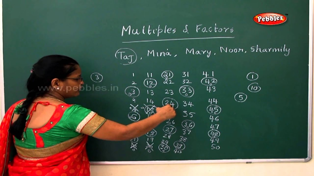 Multiples and factors | Samacheer 5th std Maths - YouTube