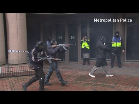Met police hold terror training exercise in London