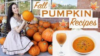 🎃 3 Healthy Pumpkin Recipes for Fall | Delicious & Vegan! 🍁