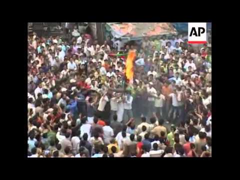 Police fire teargas fired at Hindu protesters