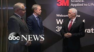 Mike Pence visits 3M plant l ABC News