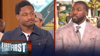 Stefon Diggs opens up on Kobe Bryant's impact, talks Vikings | FIRST THINGS FIRST | LIVE FROM MIAMI