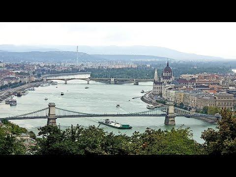 Panoramic Budapest, Hungary  Gellert Hills, Liberty Statue, Buda Hills, River Danube & Gellert Spa
