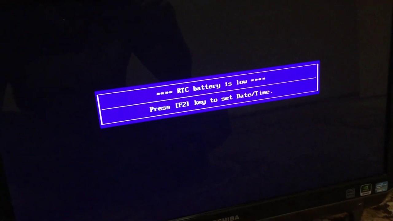 Fix Low Rtc Battery Warning On Toshiba Lx830 Youtube