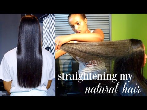 How I Straighten My Natural Hair | Natural Hair Salon Experience | Styles By Eden