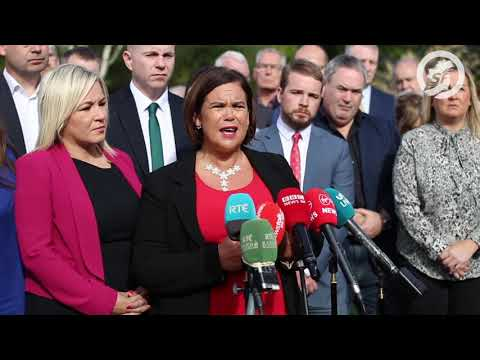 Mary Lou McDonald media engagement at Sinn Féin Away Day 2019