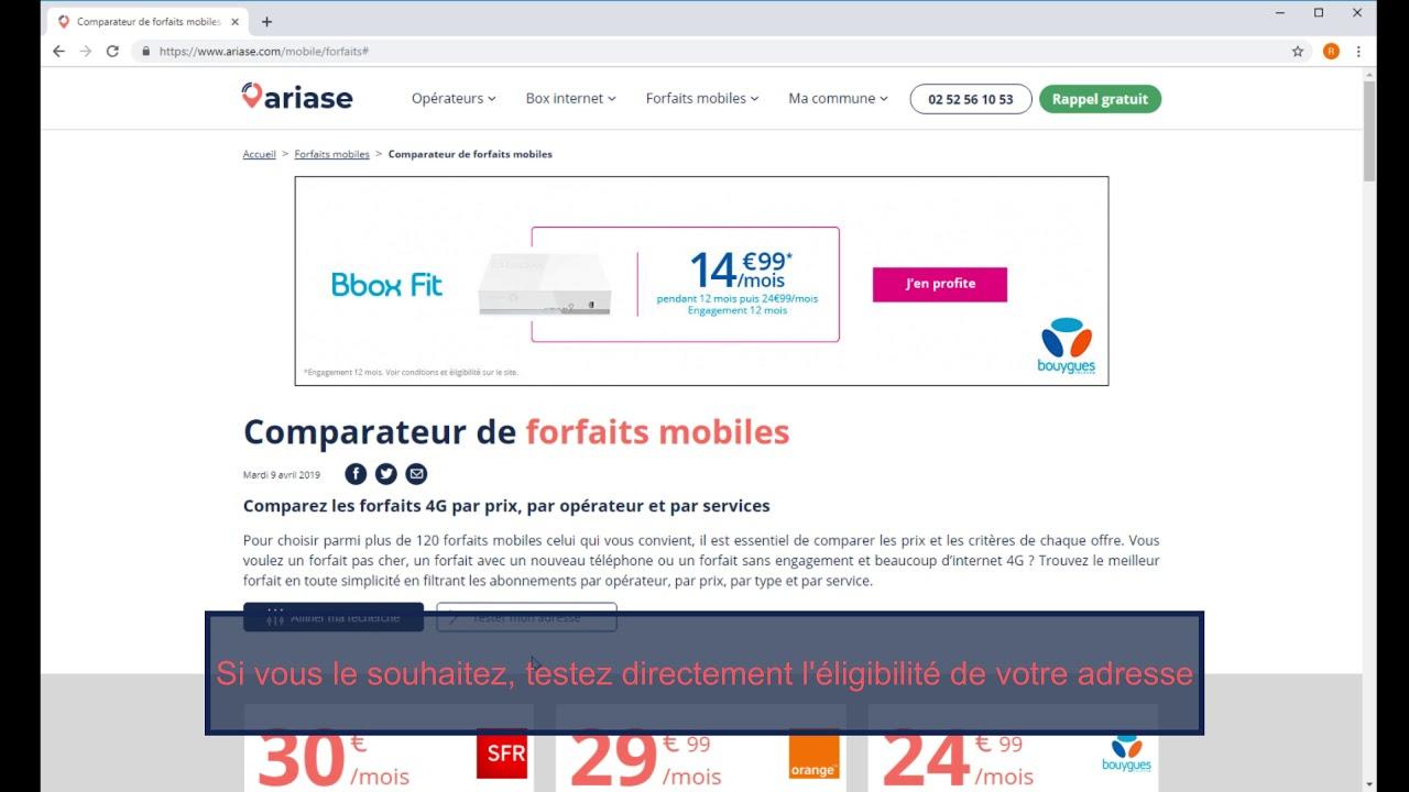 comparer prix mobile sans abonnement
