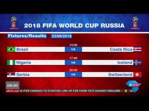 #worldcup - today's fixtures