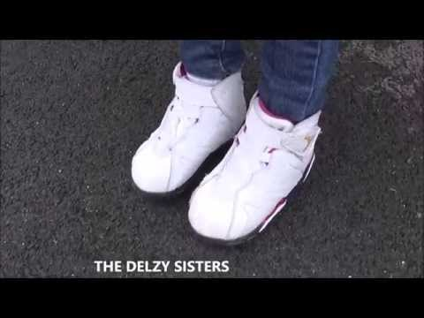 db4281afb7a857 Air Jordan 7 Cardinal Toddler Sneaker On Feet Review - YouTube