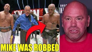Mike Tyson was ROBBED against Roy Jones Jr. but he is GOOD with that, MMA Pros reacts, Dana White