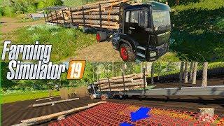 FS19 👇 mod Automatyczna przyczepa 🚜 do Drzewa 🌲  - FARMING SIMULATOR 19 MODY