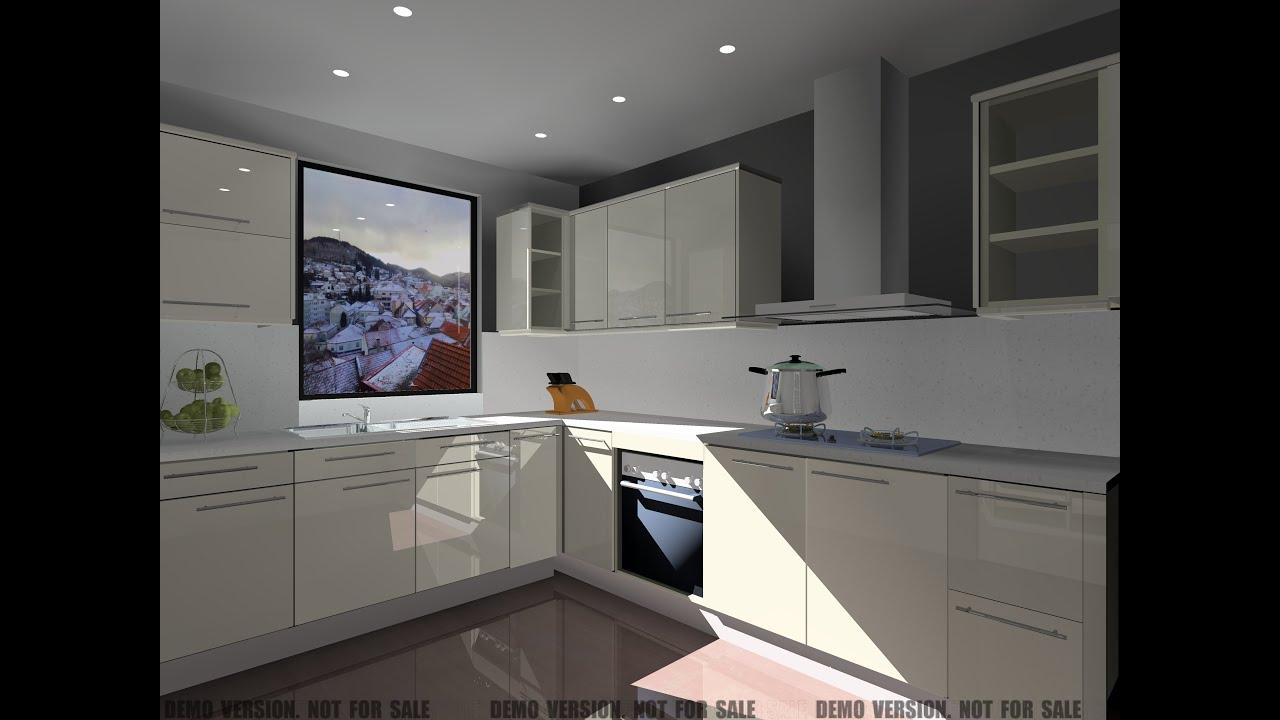 um rodapé de tampo num balcão de cozinha no KDMAX   #7C674F 4096 3072