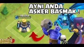 AYNI ANDA 2 ASKER YÜKSELTMEK !! Clash Of Clans
