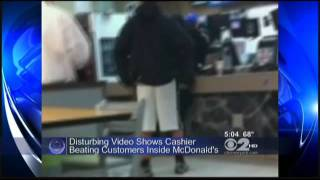 Repeat youtube video Two Black Women Severely Beaten After Attacking A Worker At McDonalds