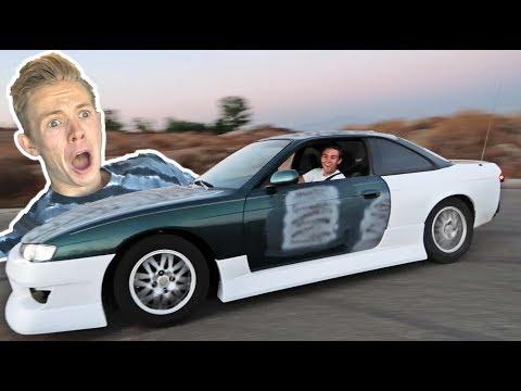 Tanner fox car crash scare prank!