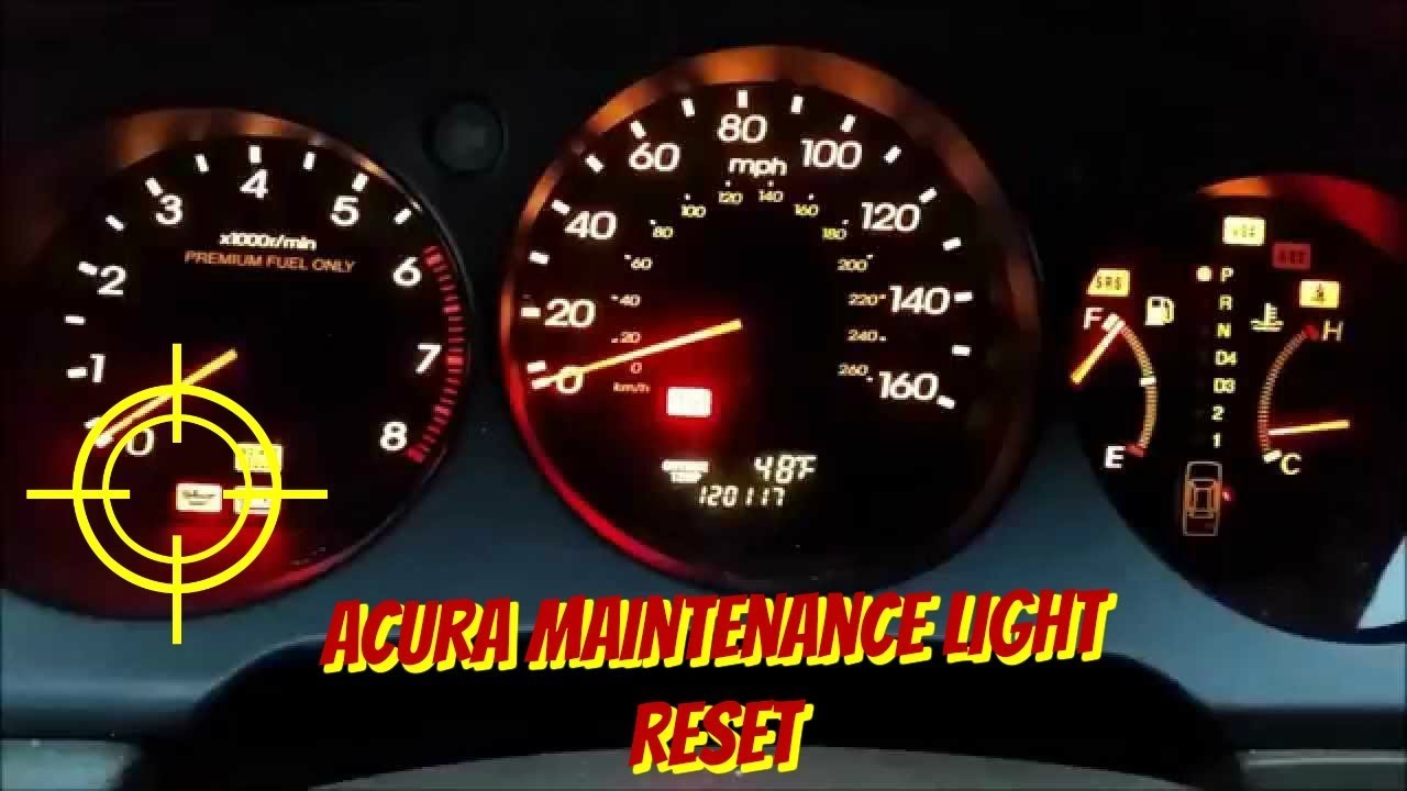 2001-2006 Acura MDX, Acura TL Maintenance Required Light