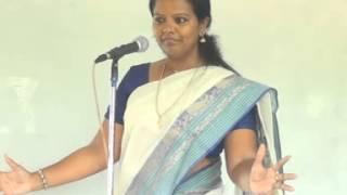 Professor.Dr.Parveen Sultana Motivational speech in sankara School - Peralam
