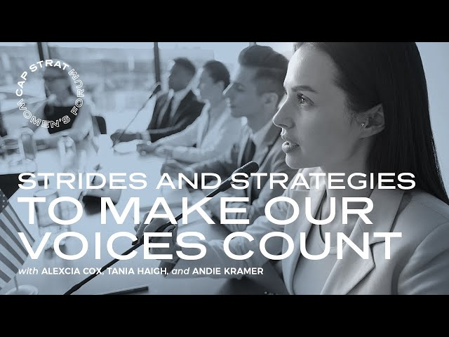 Strides and Strategies To Make Our Voices Count