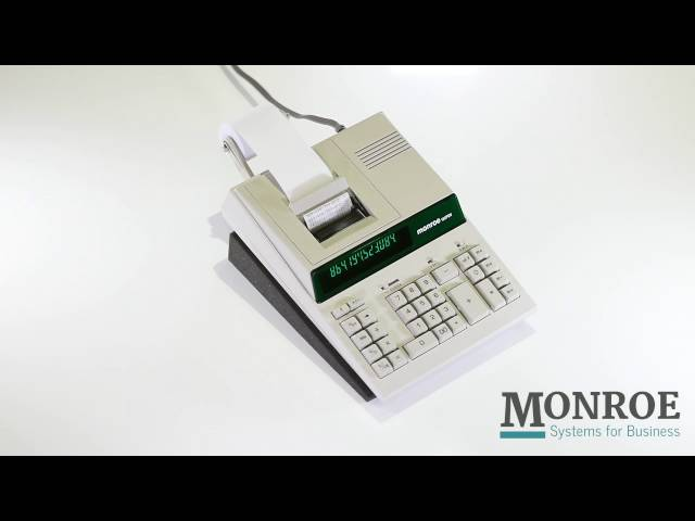 Monroe 122PDII, the premier medium-duty two-color printing commercial calculator